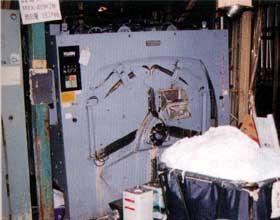 阪神大震災により被害を受けた洗濯機類